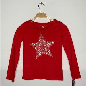 NEW (Kids)Red Cherokee long sleeved *Starsequin